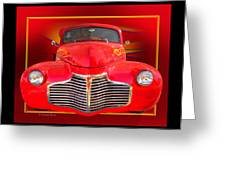 1941 Chevy Custom Greeting Card