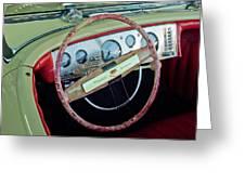 1941 Chrysler Newport Dual Cowl Phaeton Steering Wheel Greeting Card