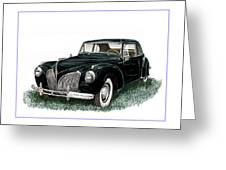 1941 Lincoln Continental Mk 1 Greeting Card