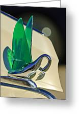 1941 Packard Cormorant Aftermarket Hood Ornament Greeting Card