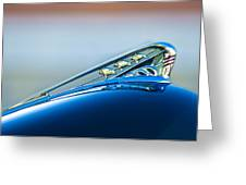 1941 Plymouth Hood Ornament Greeting Card