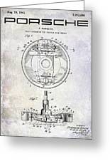 1941 Porsche Brake Mechanism Patent Greeting Card