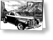 1941 Roadmaster - Half Dome Greeting Card