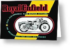 1941 Royal Enfield Motorcycle Ad Greeting Card