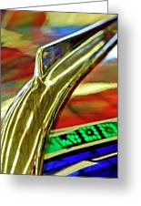 1941 Willys Chopped Gasser Pickup Hood Ornament Greeting Card