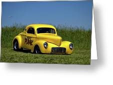 1941 Willys Coupe Dragster Greeting Card