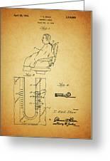 1943 Barber Apron Patent Greeting Card