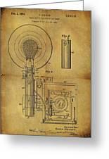 1943 Camera Flash Patent Greeting Card