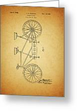 1945 Schwinn Tandem Bicycle Greeting Card