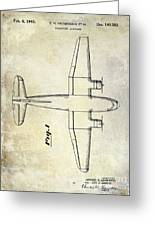 1945 Transport Airplane Patent Greeting Card