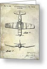 1946 Airplane Patent Greeting Card