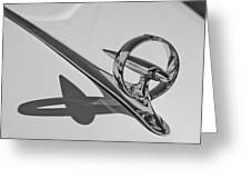 1946 Buick Hood Ornament Greeting Card
