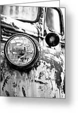 1946 Chevy Work Truck - Headlight Detail Greeting Card