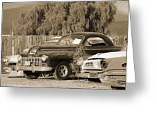 1946 Dodge In Sepia Greeting Card