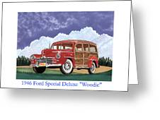 1946 Ford Woody Greeting Card