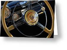 1947 Buick Eight Super Steering Wheel Greeting Card