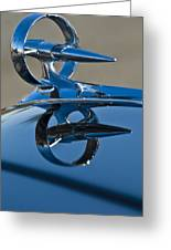 1947 Buick Roadmaster Hood Ornament Greeting Card