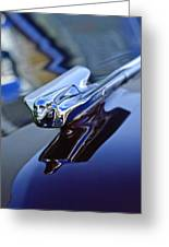 1947 Cadillac 62 Convertible Hood Ornament Greeting Card