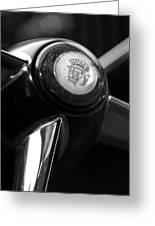 1947 Cadillac Steering Wheel Greeting Card by Jill Reger