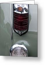 1947 Chrysler Tail Lights Greeting Card