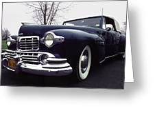 1947 Classic Lincoln Ragtop On Moody Day Greeting Card