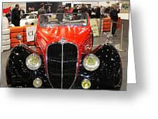 1947 Delahaye 135m Letourner Et Marchand Cabriolet Greeting Card