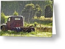 1947 Dodge Pickup Rain And Sun Greeting Card