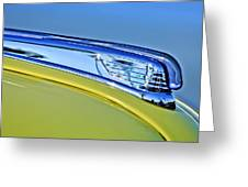 1947 Ford Super Deluxe Hood Ornament 2 Greeting Card