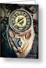 1947 Knucklehead Speedometer Greeting Card