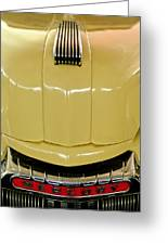 1947 Mercury Convertible Hood Ornament Greeting Card