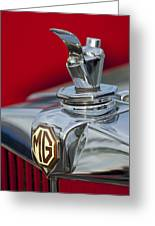 1947 Mg Tc Non-standard Hood Ornament Greeting Card
