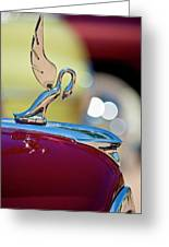 1947 Packard Coupe Hood Ornament Greeting Card
