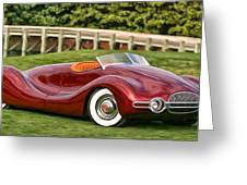 1948 Buick Streamliner Greeting Card