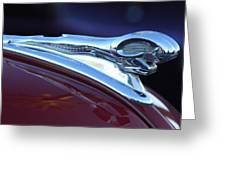 1948 Dodge Ram Hood Ornament Greeting Card