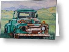 1948 Ford Pickup Rusty Gem  Greeting Card