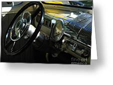 1948 Ford Super Deluxe Dash Greeting Card