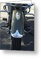 1948 Indian Chief Motorcycle Hood Ornament Greeting Card