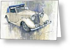1948 Jaguar Mark Iv Dhc Greeting Card