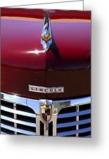 1948 Lincoln Continental Hood Ornament 3 Greeting Card