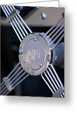 1948 Mg Tc Steering Wheel 2 Greeting Card