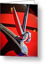 1948 Packard Hood Ornament 2 Greeting Card