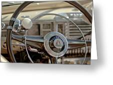 1948 Plymouth Deluxe Steering Wheel Greeting Card
