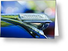 1948 Plymouth Hood Ornament Greeting Card