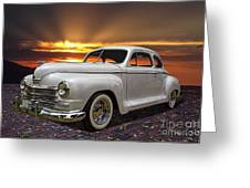 1948 Plymouth Two Door Coupe Greeting Card