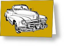 1948 Pontiac Silver Streak Convertible Illustration Greeting Card