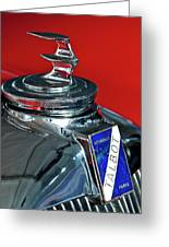 1948 Talbot-lago T26 Record Cabriolet Hood Ornament Greeting Card