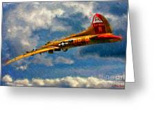 1949 Boeing B-17b Flying Fortress Greeting Card