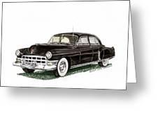 1949 Cadillac Fleetwood Sedan Greeting Card