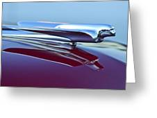 1949 Cadillac Hood Ornament Greeting Card