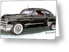 1949 Cadillac Sedanette Greeting Card